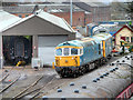 SD8010 : Preserved Locomotive Outside East Lancashire Railway Workshops at Buckley Wells by David Dixon