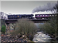 SD7915 : Flying Scotsman crossing the River Irwell at Brooksbottoms by David Dixon