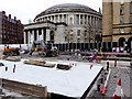SJ8397 : Central Library and Metrolink Work, St Peter's Square by David Dixon