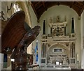 SK9211 : The eagle looks on � Church of St Peter & St Paul by Alan Murray-Rust