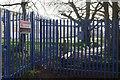 SX8965 : Barrier across path, Torquay Girls' Grammar School by Derek Harper