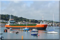 SX9372 : MV Calypso inches her way to berth, Teignmouth Harbour by Robin Stott