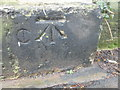 ST5774 : Ordnance Survey Cut Mark by Adrian Dust
