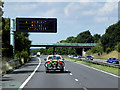 SK5796 : Variable Message Sign, Northbound A1(M) near to Wadworth by David Dixon