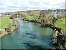 ST6868 : The River Avon, looking upstream by Christine Johnstone