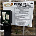 SO7192 : Information board, Bridgnorth Station private car park by Jaggery