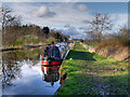 SD4517 : Leeds and Liverpool Canal, Narrowboat Near Spark Bridge : Week 14