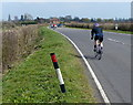 TL1294 : Cycling along Oundle Road towards Chesterton by Mat Fascione