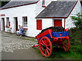 H4379 : Turf cart, Ulster American Folk Park by Kenneth  Allen