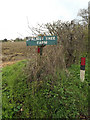 TM1253 : Walnut Tree Farm sign by Adrian Cable