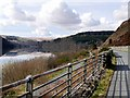SN9264 : Footpath and Road Round Caban Coch Reservoir by David Dixon