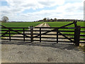 TM1257 : Field entrance off the entrance to Home Farm by Adrian Cable