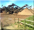 SO8639 : Gravel grading plant, Ryall : Week 16