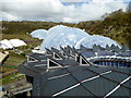 SX0554 : View over the roof of the Core to the domes of the Eden Project by Sarah Charlesworth