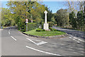 Dist:0.3km<br/>The war memorial at the junction of Ockham Lane with Ockham Road North.