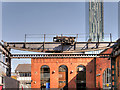 SJ8397 : Liverpool Road Station Crane Gantry by David Dixon