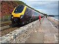 SX9777 : A train approaching Dawlish by Philip Halling