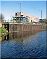 SK5738 : Nottingham Canal and the new fire station by John Sutton