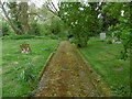 TL6427 : Path in St Mary the Virgin Churchyard, Lindsell by Marathon