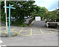 SO6303 : Bench with a view of a Lydney car park by Jaggery