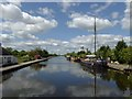 SE8311 : Boats on the canal at Keadby by Steve  Fareham