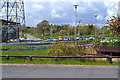 SP3677 : Car park and lighting, Alan Higgs Centre off Allard Way, Coventry  by Robin Stott