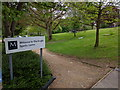 ST7762 : National cycle route going through the grounds of Monkton school by Rob Purvis