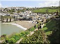 SW9980 : Looking down on Port Isaac from Roscarrock Hill by Derek Voller