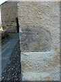 NO5603 : OS bolt and cutmark - Cellardyke, St Adrian's church by Richard Law