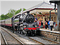 SD7916 : Steam Train at Ramsbottom Station by David Dixon