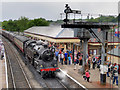 SD7916 : 80080 Arrives at Ramsbottom on Wartime Weekend by David Dixon