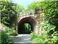Dist:0.2km<br/>The skewed bridge was built to take the single track railway under the road. The curving and skewed brickwork is a great reflection on the skills of the Victorian bricklayers.