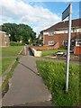 SZ1094 : Strouden: footpath K11 to Mallard Road by Chris Downer