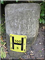 "Dist:0.4km<br/>This old milestone is on the south side of Old Aston Hill, which is now by-passed.  This side of the stone states: ""To the Ferry 1 Mile"", a reference to Queensferry, which was formerly Kingsferry, and before 1820, Lower Ferry. For the west side of the stone see [[5009536]], and the roadside view [[5009512]]  There is a rivet bench mark on the top of the stone - [[5009557]], and the least said about the water hydrant plate the better."