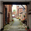 SO5968 : Alleyway off Teme Street by Jonathan Billinger