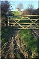 SX1358 : Gate and field boundary near Ethy Barton by Derek Harper