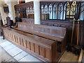 TL1997 : St Margaret, Fletton: choir stalls by Basher Eyre