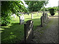 TF0907 : St Lawrence, Tallington: churchyard (b) by Basher Eyre