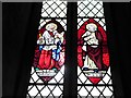 TF0907 : St Lawrence, Tallington: stained glass window (A) by Basher Eyre