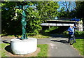NT2170 : Millennium Cycleway Signpost next to the towpath by Mat Fascione
