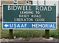 TG2813 : Bidwell Road (road sign) by Evelyn Simak