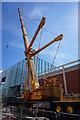 SK3586 : Ainscough Crane on Charter Row, Sheffield by Ian S
