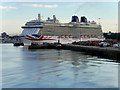 SU4210 : MV Britannia at Southampton Ocean Terminal by David Dixon