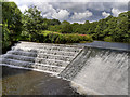 SD7913 : River Irwell, Weir at Burrs Country Park by David Dixon