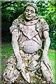 SJ5482 : The Kneeling Monk, Medieval Herb Garden, Norton Priory, Cheshire by Matt Harrop