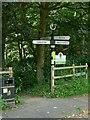 SJ8870 : Fingerpost at Nancy's Wood by Alan Murray-Rust