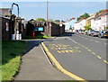 ST3089 : Raglan Barracks bus stop, Newport by Jaggery