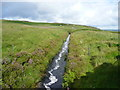 SD9332 : Feeder channel, Widdop Reservoir, Heptonstall by Humphrey Bolton