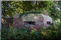 SJ3369 : North Wales WWII defences: RAF Sealand, Old Marsh Farm (II) -  pillbox (1) by Mike Searle