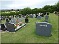 ST8851 : Westbury Cemetery: grave backs by Basher Eyre